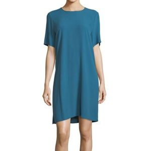 Eileen Fisher Crepe Round Neck Dress